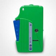 Faccia di estremità della fibra di pulizia, scatola di strumento di pulitura della fibra, codino cleaner, cassette in fibra cleaner, Fibra Ottica Cleaner