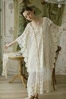 LYNETTE'S CHINOISERIE Spring Autumn Original Design Women Lace Ultra Loose Mori Girls Oversize Dresses