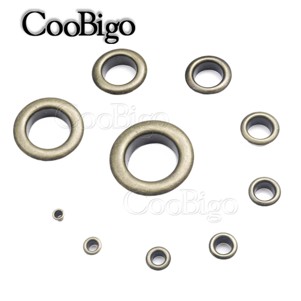 Pack 100 sets 3.5mm Antique  Brass Eyelets Ring Grommets w//Washer Leather Craft