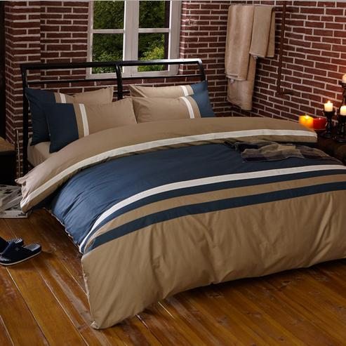 4pcs/set 100% cotton men boy luxury queen bed set home comforter ...