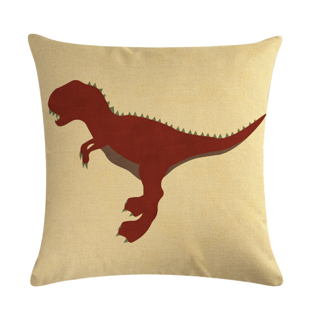 Cute Dinosaur Decorative Pillow Cover