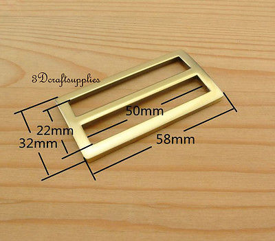 Strap Adjuster Rectangle Sliders Alloy Anti Brass 50 Mm 2 Inch 10pcs U26