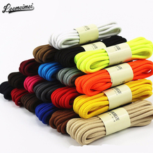 1Pair 20 Colors Top Quality Polyester Solid Classic Round Shoelaces Casual Sports Boots Lace 90cm