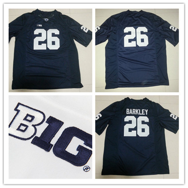 new product a7452 4ea06 Mens Cheap NCAA Penn State Nittany Lions Navy Blue big ten Jersey,26 Saquon  Barkley PSU College Football Jerseys