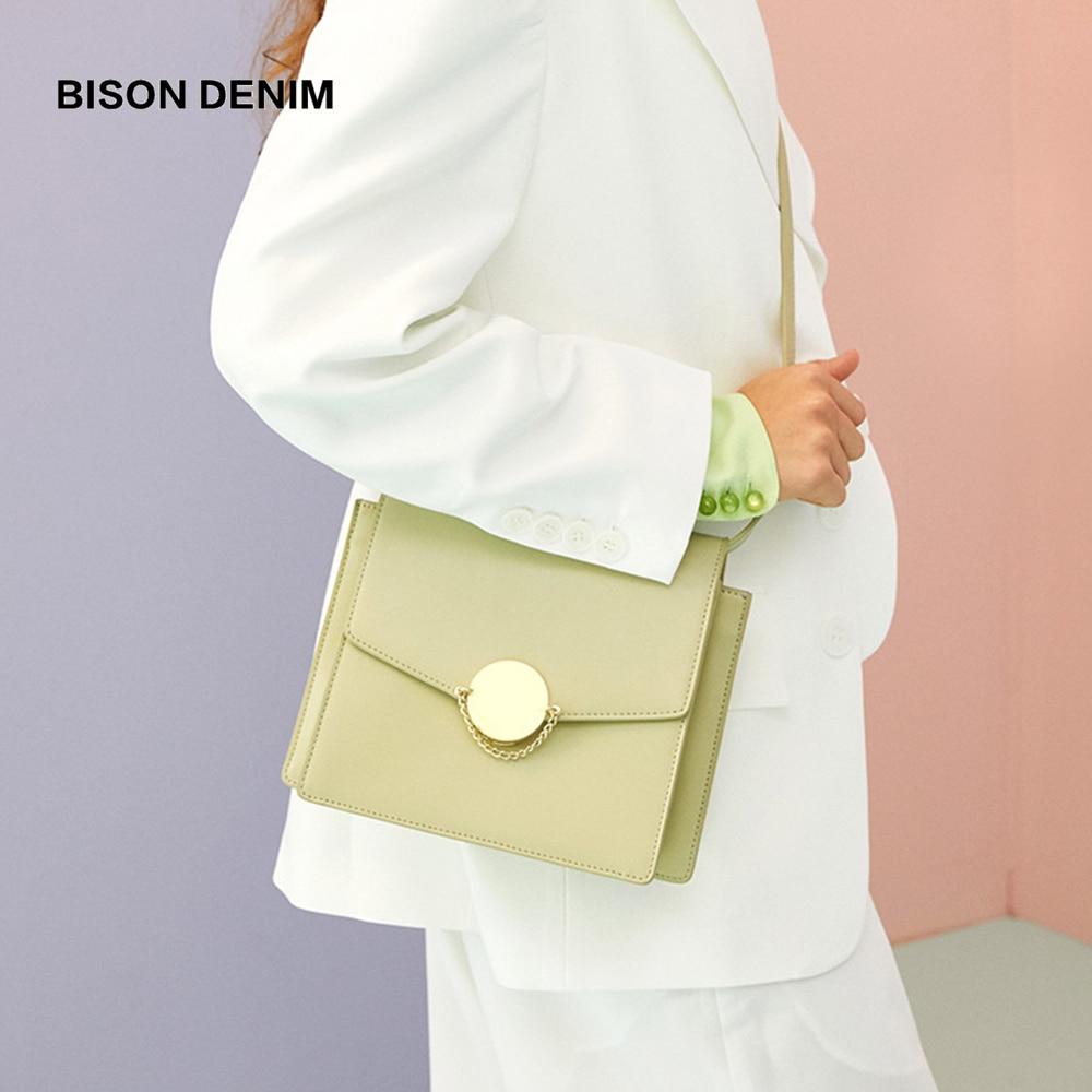 BISON DENIM Cow Leather Luxury Handbags Women Bags Designer New Shoulder Bag High Quality Crossbody Bag for Women N1650BISON DENIM Cow Leather Luxury Handbags Women Bags Designer New Shoulder Bag High Quality Crossbody Bag for Women N1650