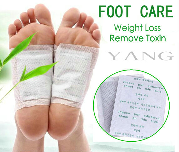 40pcs=(20pcs Patches+20pcs Adhesives) Kinoki Detox Foot Patches Pads Body Toxins Feet Slimming Cleansing HerbalAdhesive Hot