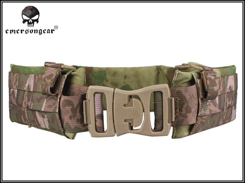 ФОТО Emersongear Molle Airsoft Tactical Waist Padded Belt Functional Patrol Belt with Soft Pad Nylon Cummerbunds For Outdoor Sports