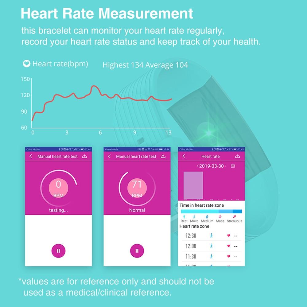 Image 4 - Virtoba I8S 1.14 スマートバンド男性女性の Bluetooth フィットネストラッカーブレスレット血圧色 UI  ため AndroidIOS -    グループ上の 家電製品 からの スマート リストバンド の中
