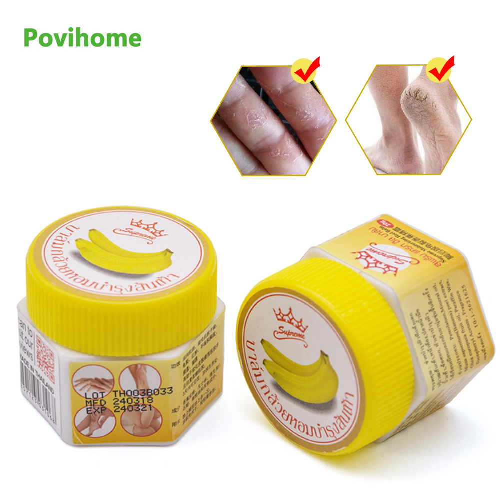 Thailand Banana Anti-cracking Cream Frozen Frostbite Anti-Chapping Repair Skin Ointment Anti Dry Crack Moisturizer Oil P0015