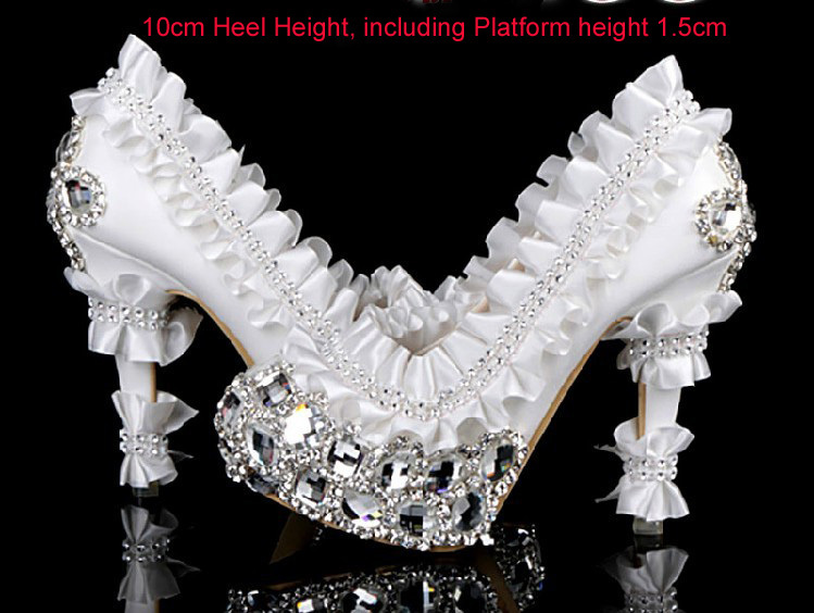 2016 Popular Gorgeous high heel crystal pumps for wedding wedding dress shoes bridal shoes Nicest formal dress shoes fashionable 2016 high heel bling red rhinestones bridal shoes high quality wedding shoes formal crystal occasion free shipping