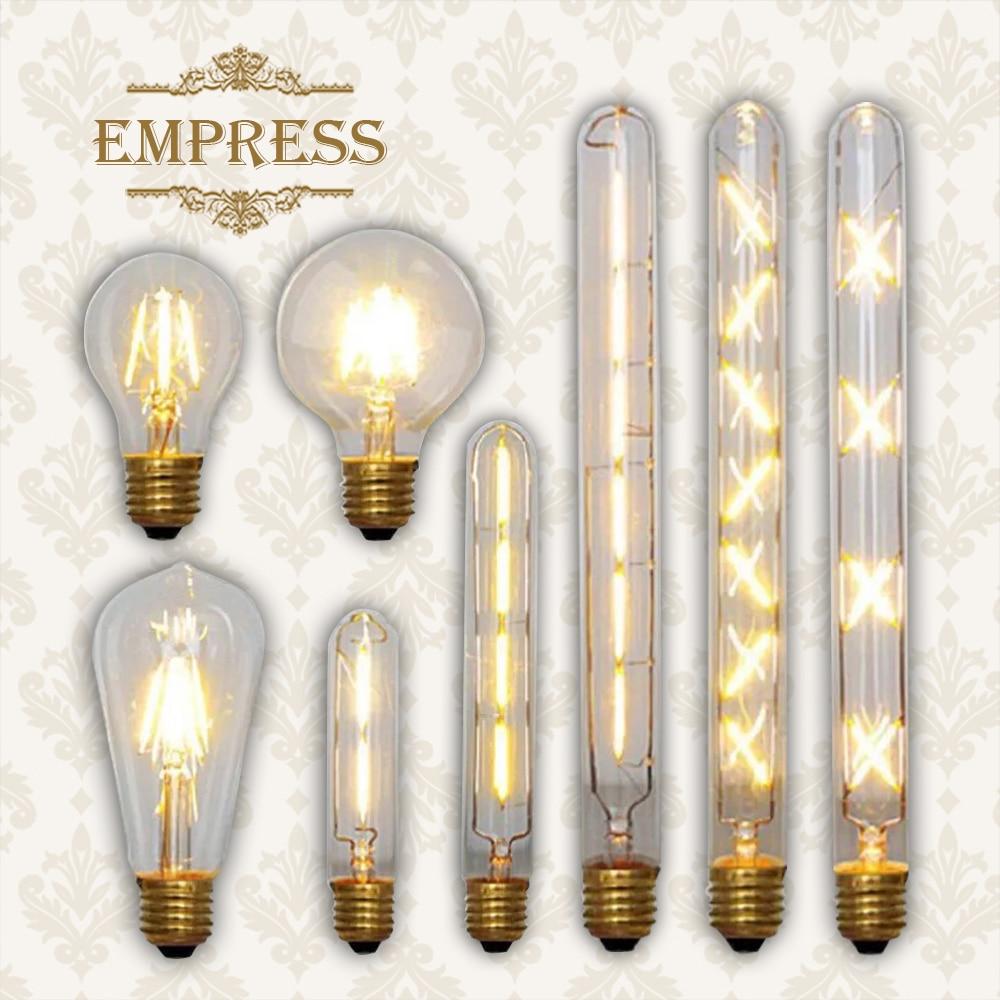 Retro lamp led edison bulb e27 filament Lamp e14 Glass Bulb ampoules decoratives lampada vintage led gloeilamp Candle light bulb