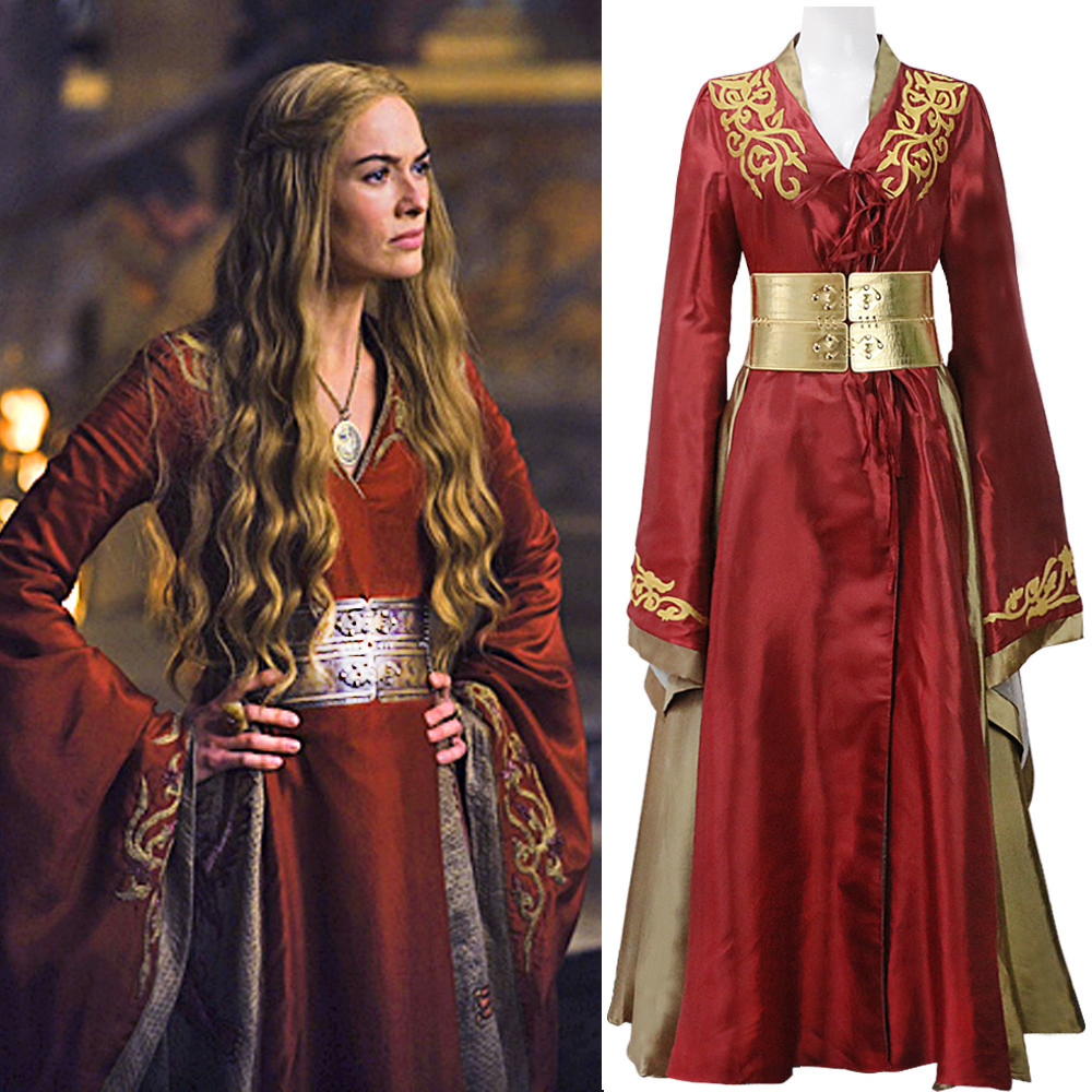 Custom Made Queen Cersei Lannister Red Exclusive Dress Game Of Thrones Costume For Adult Women Halloween Cosplay Costume