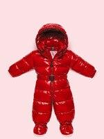 Зимние Детские пуховые пальто для девочек зимняя одежда Детские Пуховые комбинезоны с ног носить Съемный шляпа и пояс премиум качества
