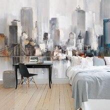 Papel pintado beibehang personalizado 3D arquitectura moderna Simple tema abstracto sala de estar película Hotel Fondo papel de pared 3d