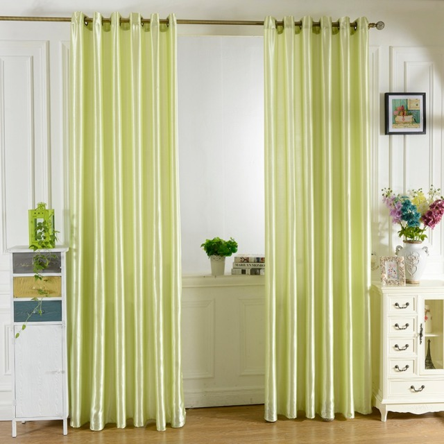 simple living room curtains table decor style bright solid color window kitchen curtain door divider sheer panel drapes scarf 236313