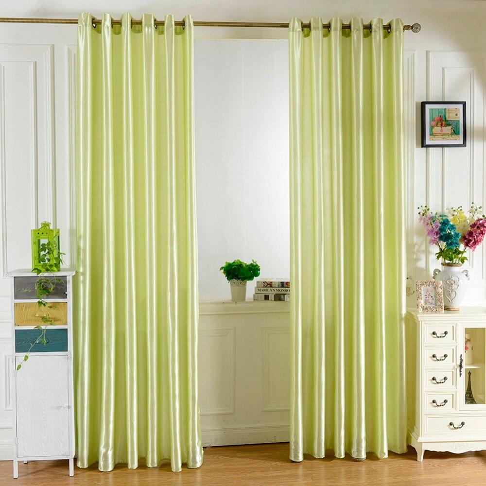 Style Simple Lumineux Couleur Unie Fenetre Cuisine Salon Rideau
