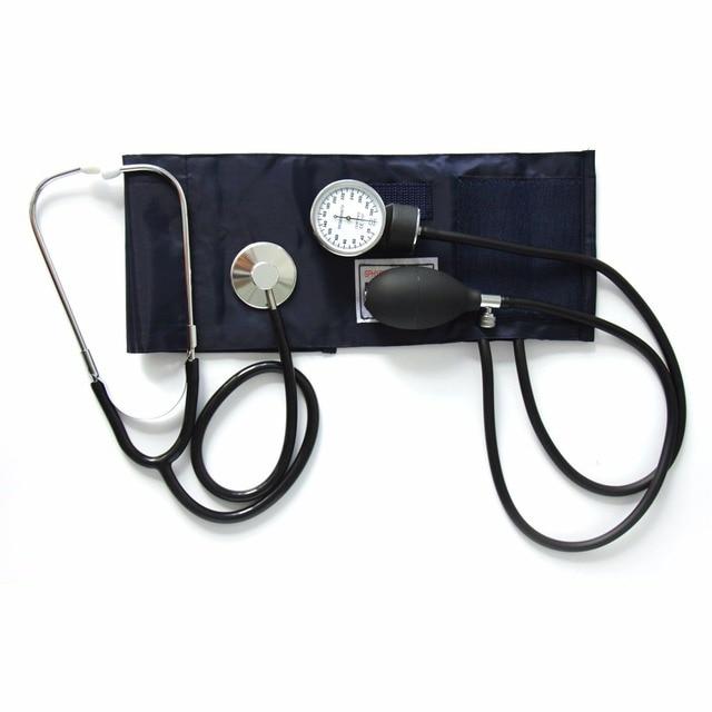 Анероид сфигмоманометр крови Давление измерения устройства комплект манжеты стетоскоп Главная Применение крови Давление ручной сфигмоманометр
