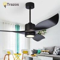 TRAZOS 110 220V Decke Fans Mit Lichter Für Wohnzimmer Remote Decke Fan Lampe Nordic Ventilateur Lüfter licht-in Deckenventilatoren aus Licht & Beleuchtung bei