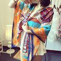 Bufandas Mujer 2016 100% шелковый шарф женские летние большие площади шелковый пятно пляжные полотенца Laides Echarpes Foulards роковой шарфы