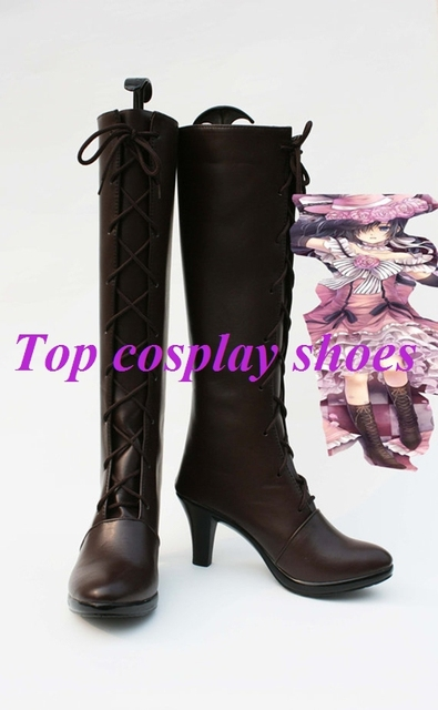 Black Butler Kuroshitsuji Cover VER Ciel Cosplay Shoes Boots Custom Made