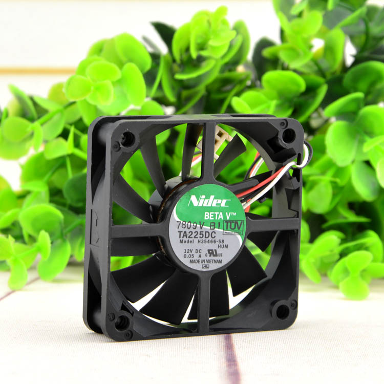 Free Shipping For Nidec DC 12V 0.05A 3-pin connector 60x60x15mm Server Square Cooling Fan