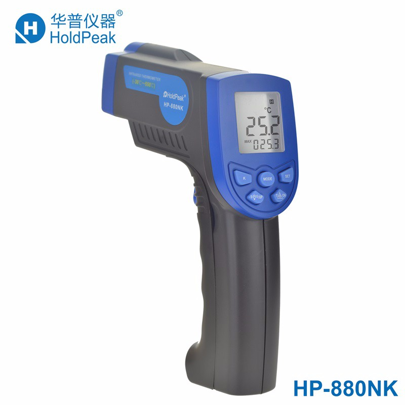 HoldPeak HP-880NK K-type Digital Non Contact Infrared Thermometer Laser Temperature Instrument -30--550'C / -22--1022'F 2016 high quality for bside btm21c infrared thermometer color digital non contact ir laser thermometer k type 30 500 led