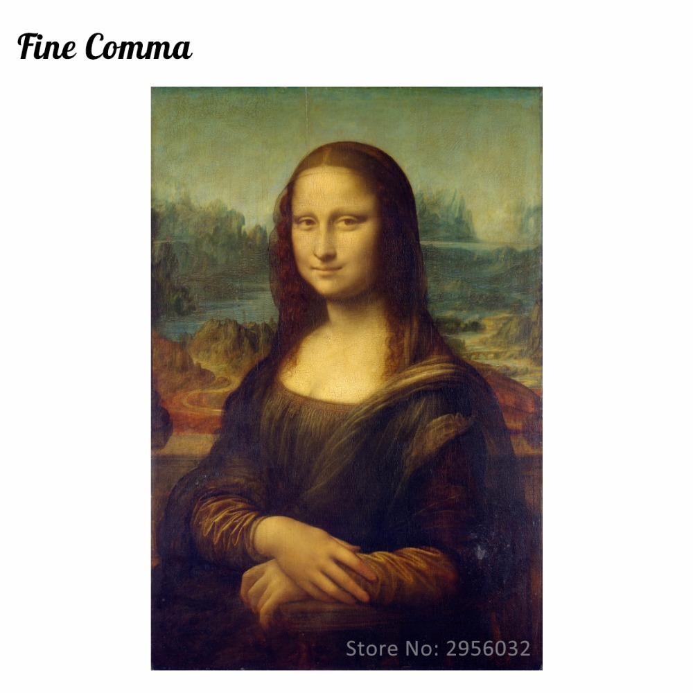 Yağlıboya Mona Lisa Leonardo da Vinci tarafından Tuval Resimlerinde Duvar Sanatı Resimleri El Boyalı Üreme Oturma Odası için