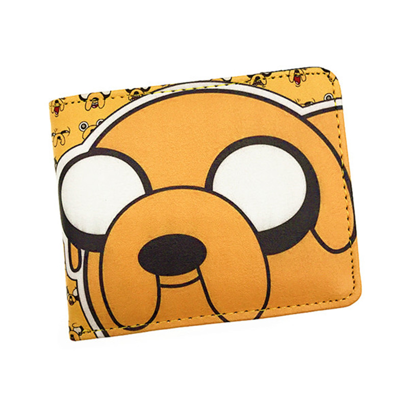 лучшая цена Anime Comics Cartoon Adventure Time Wallet Jake The Dog Purse With Card Holder