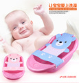 J.G Chen High Quality Baby Adjustable Bath Seat Bathing Bath Tub Seat Bath Safety Security Seat Baby Safety Net Blue Pink 0-12M