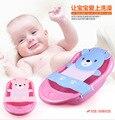 JG Chen Bebê de Alta Qualidade Ajustável Assento de Banho Banho Banho de Banheira Banho de assento de Segurança Do Assento de Segurança Do Bebê Segurança Net Azul Rosa 0-12 M