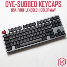 dsa dolch colorway dsa profile Dye Sub Keycap Set PBT plastic for keyboard gh60 xd60 xd84 cospad tada68 rs96 zz96 87 104 660