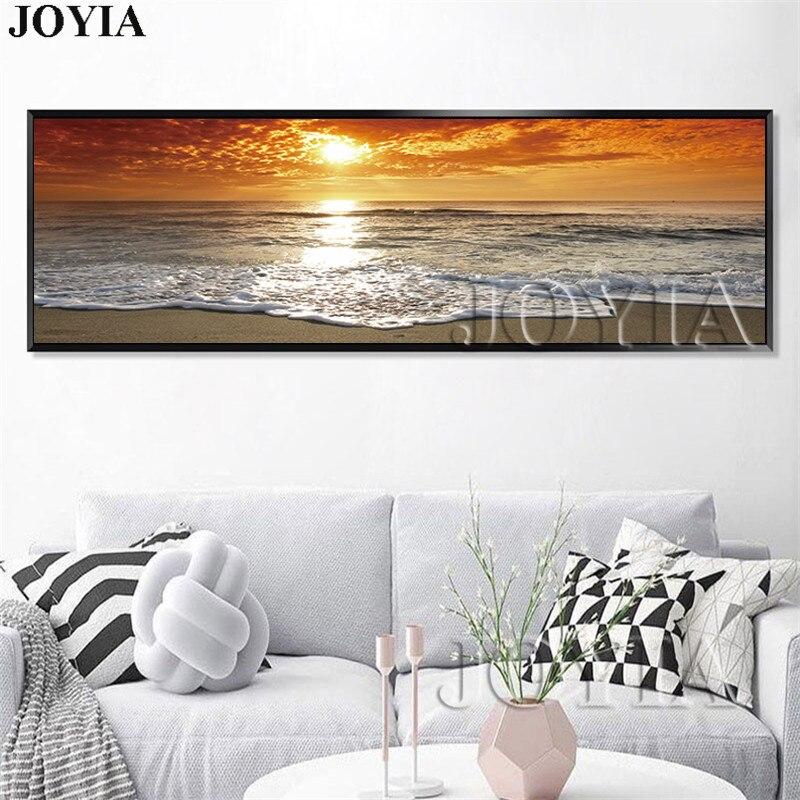 Große Einzel Meer Malerei Seascape Beach Bild Dämmerung Wellen Wand ...