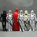 6 pçs/lote Guardas soldados soldados clones de Star Wars Darth Vader Branco 16 CM modelo mão pode estar se movendo até mesmo crianças é presentes