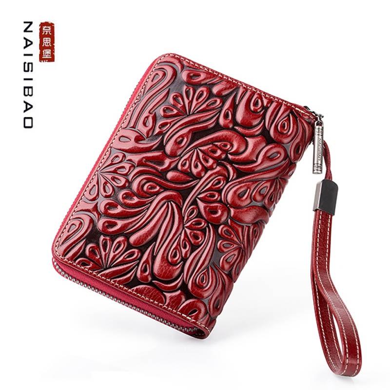 NAISIBAO 2020 Nouveau sac de document En Cuir passeport multifonction sac pochette pour tickets de voyage passeport housse de protection sac de rangement - 5