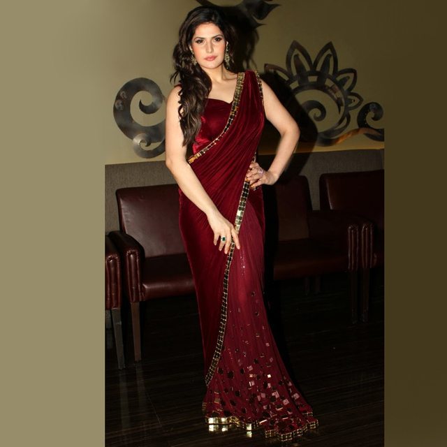 99f48298b502 Indian Burgundy Event Evening Dress Vintage Dubai Velour with Crystal Long  Prom Party Gowns For Women Vestidos De Fiesta