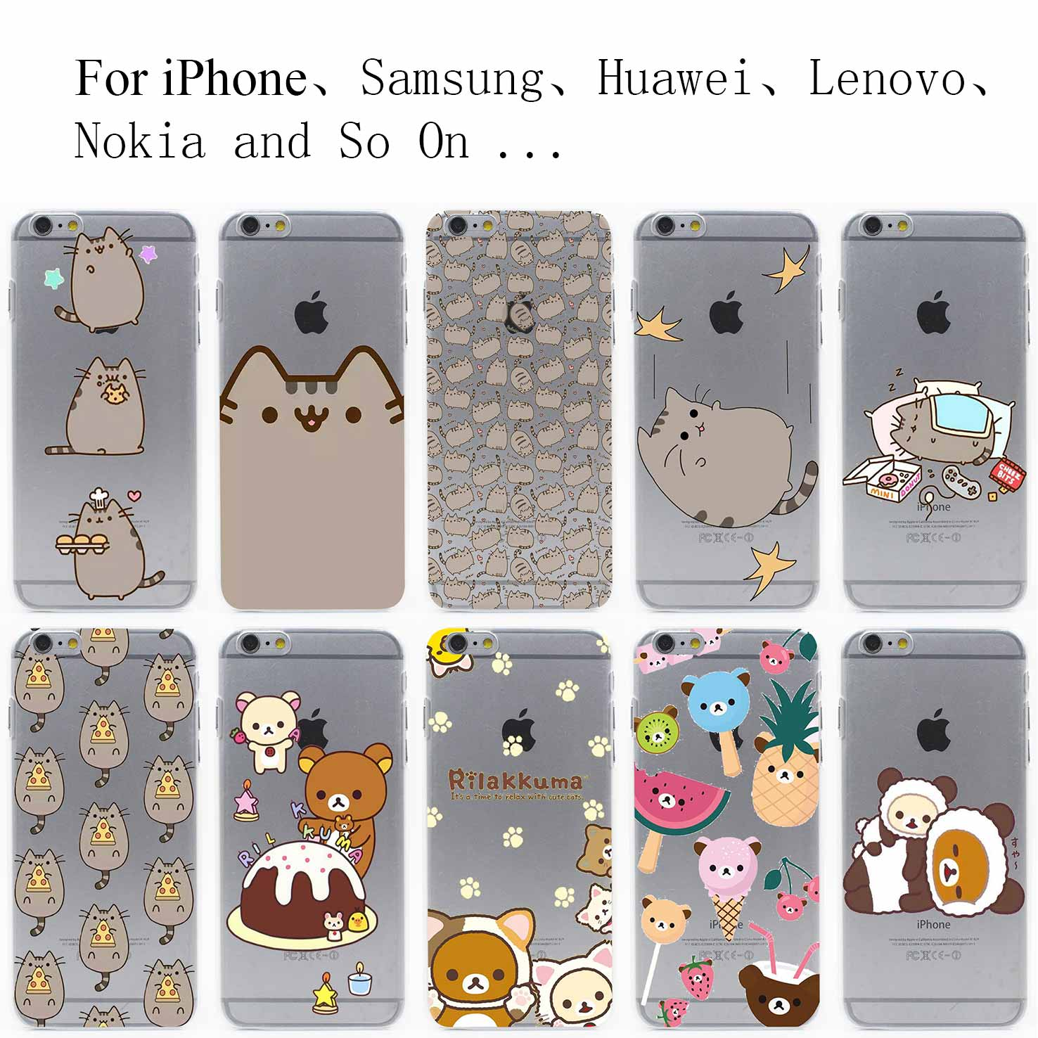 iPhone silicone phone cases for iphone 5 : ... out transparent case cover for iphone 4 4s 5 5s se 6 6s plus rated 5