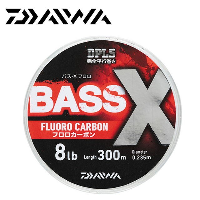 Daiwa Bass X Fluorocarbon Fishing Line 300 Meter