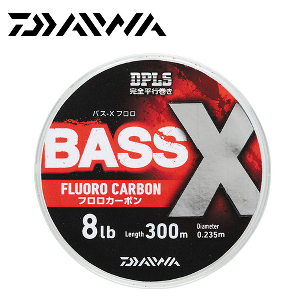 DAIWA DPLS BASS X FLUORO 300M Fluorocarbon Fishing Line Made in Japan 6LB-20LB image