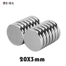 Powerful magnetic magnets 5pcs 20 x 3mm N35 Small Super Strong Rarge Permanet Magnet search magnets Min Round Rare earth magnets цена 2017