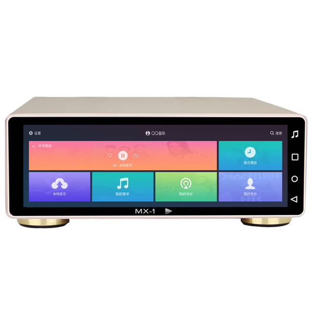 R-088 JF MX-Pro/MX-1A/MX-2A Android System CS43198 32Bit/768KHz Hard Disk HD SSD Digital Turntable Player 8'' Monitor DSD 512