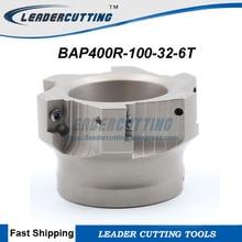أداة طحن BAP400R 100 32 6T مجانية الشحن لماكينة الطحن ، آلة تقطيع الوجه 100 مللي متر من DIa مللي متر لآلة الطحن