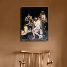 Jesus Mocked by the Soldiers Manet Art Canvas Poster and Print Painting Decorative Picture for Living Room Home Decor