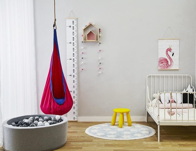 Doux coton enfants chambre jouant balançoires bébé pulls enfant hamac suspendu lit gonflable coussin tapis chambre décor photographie Prop - 3