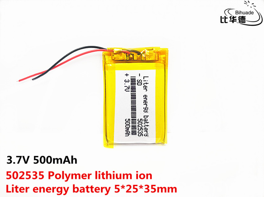 Liter energy battery Good Qulity 3.7V,500mAH 502535 Polymer lithium ion / Li-Po Li-ion battery for tablet pc BANK,GPS,mp3,mp4Liter energy battery Good Qulity 3.7V,500mAH 502535 Polymer lithium ion / Li-Po Li-ion battery for tablet pc BANK,GPS,mp3,mp4