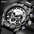 Мужские часы BIDEN  брендовые Роскошные повседневные военные кварцевые спортивные наручные часы с резиновым ремешком  мужские часы  relogio masculino...