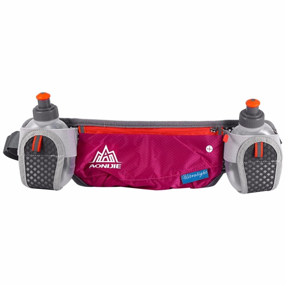 Prix pour Sport Courir Vélo Taille Pack Ceinture Sac Avec Poches De Rangement 2 Bouteille D'eau Courante Sac Poche