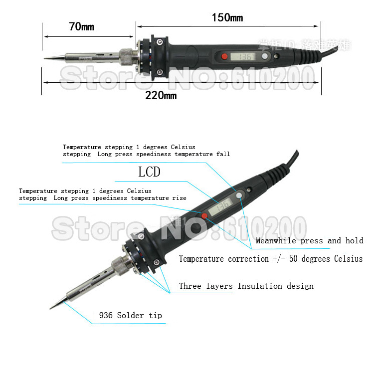 En Japón WIT LCD ajustable eléctrico soldador/soldadura sustituto ...