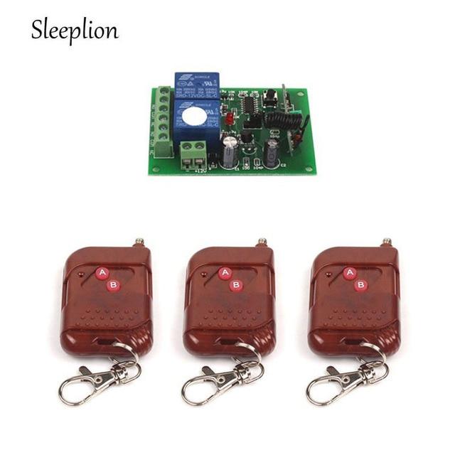 sleeplion dc 12v 10a relay 2ch wireless rf remote control switch 3 rh aliexpress com