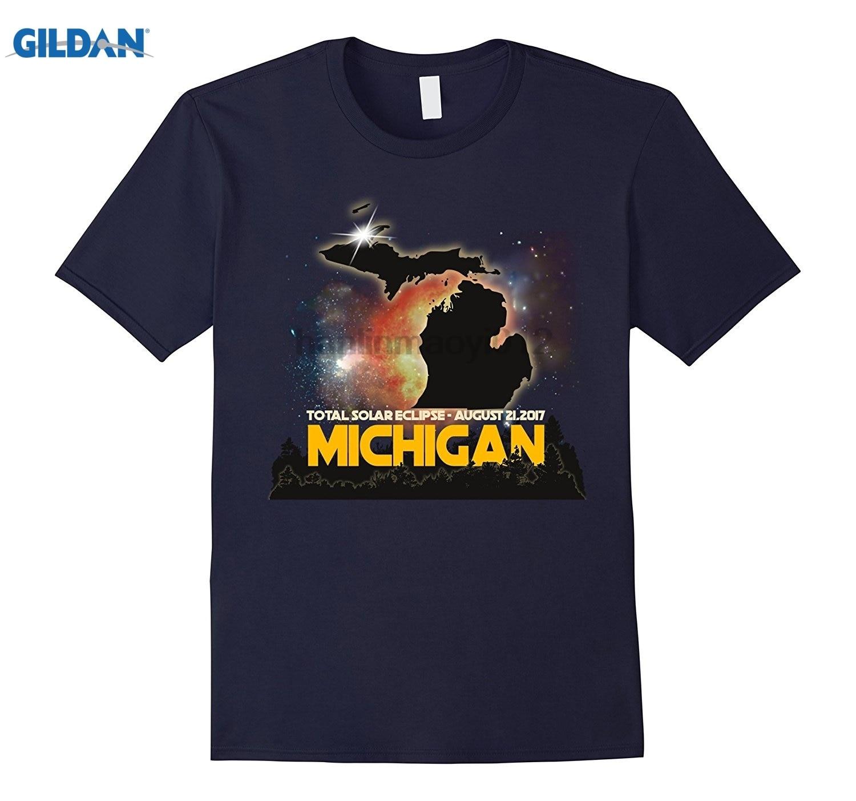 GILDAN Michigan Total Solar Eclipse August 21 2017 T-shirt Dress female T-shirt