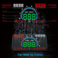 XYCING E350 OBD2 Head Up Display 5.8 inch Car HUD Windshield Projector OBD Vehicle Speedometer Fuel Consumption KM/H MPH Display